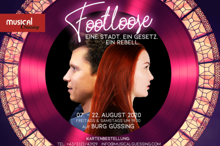 "Plakat für das Musical ""Footloose"""